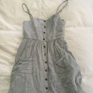 Cute Button Up Grey COPE Dress Size Medium